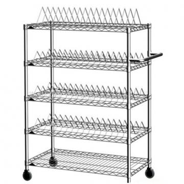 5 Tier Powder Coated Adjustable Storage Shelving with Wire Decking