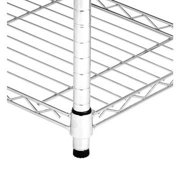 "NSF Adjustable 5 Tiers Heavy Duty Commercial Metal Wire Shelving on Caster 48"" X 18"""